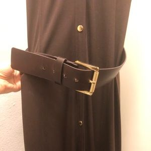 Michael Kors long brown dress with removable belt